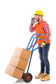 I need help with this delivery — Stock Photo
