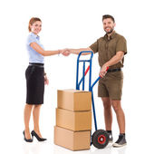 Delivery arrived — Stock Photo