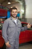 Happy mechanic — Stock Photo