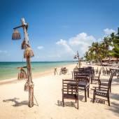 Exotic Beach Restaurant — Стоковое фото