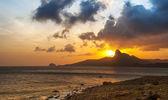 Zonsondergang op een Con Dao eiland — Stockfoto