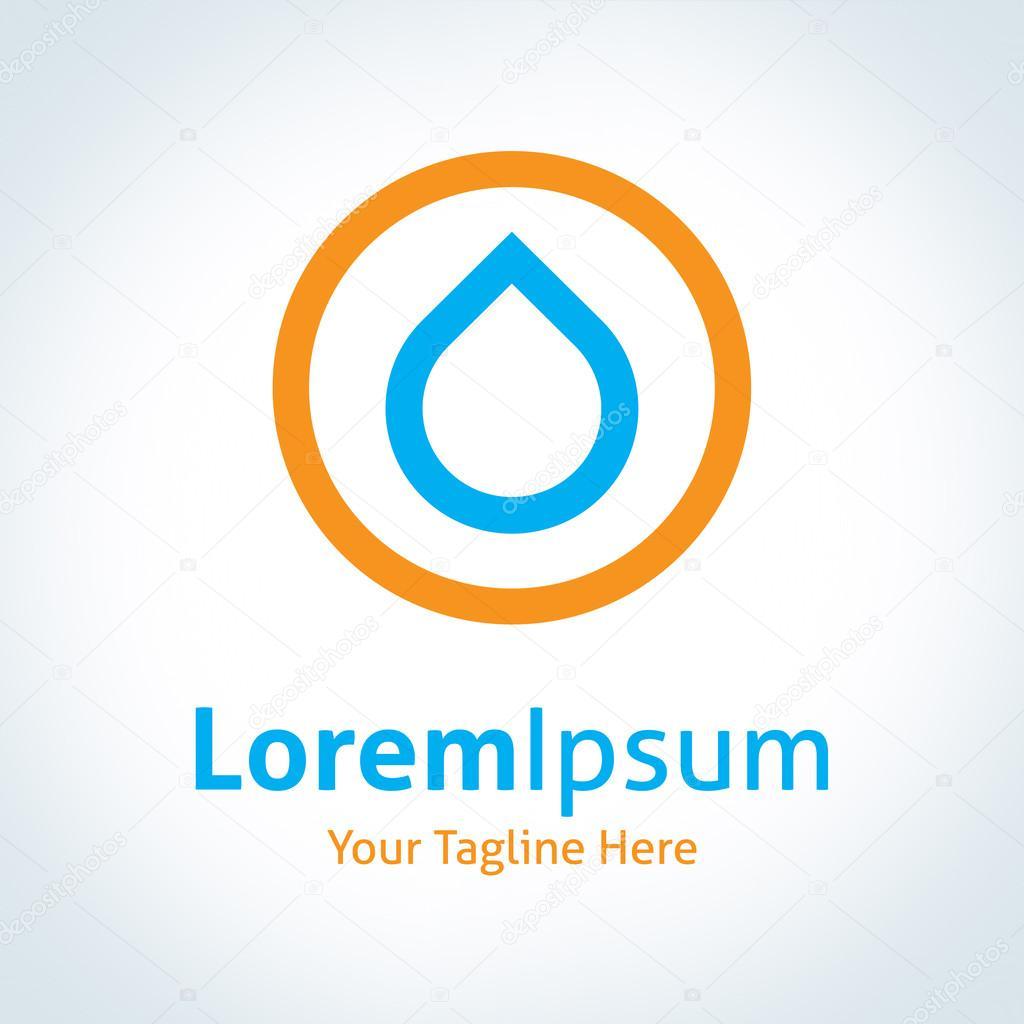 Water drop circle icon