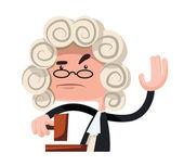 Judge making a verdict vector illustration cartoon character — Stock Vector