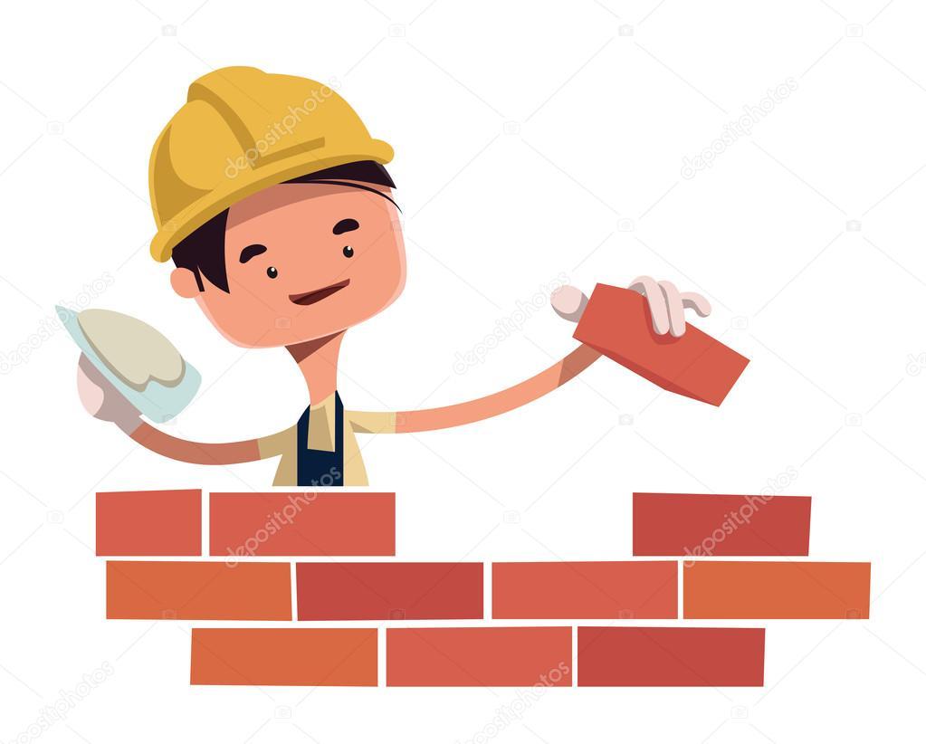 Trabajador De La Construcción Construcción De Personaje