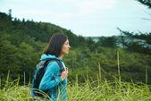 Hiker woman outdoors — Stock Photo