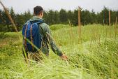Hiker man outdoors — Stock Photo