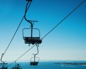 Cableway funicular chair — Stock Photo
