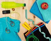 Necessary sport accessories — Stock Photo