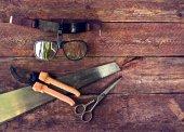 Set of garden tools — Stock Photo