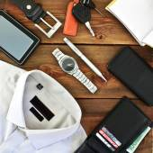 Modern men's clothing and accessories — Stock Photo