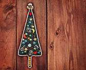 Christmas tree of women's jewelry — Stok fotoğraf