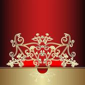 Card with ornate decoration — 图库矢量图片
