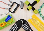 Sports equipment for fitness. — Stock Photo