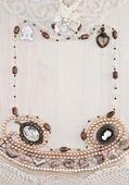 Beautiful female jewelry and trinkets — Stock Photo
