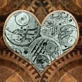 Metal heart ticking inside. — Stock Photo