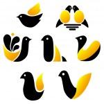 Set of  birds  icons — Stock Vector #66383521