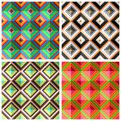 Plaid colorful seamless patterns — Stock Vector