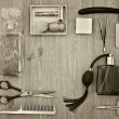 Vintage barber accessories — Stock Photo #68939721