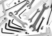 Collection of tools equipment — Stock Photo