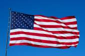 Old Glory in the Wind — Stock Photo