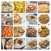 Collage mediterranean cuisine — Stock Photo