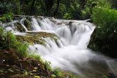 Waterfall cascade from close view — Zdjęcie stockowe