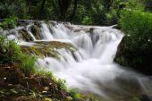 Waterfall cascade from close view — Foto de Stock