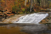 Waterfall in autumn forrest — Foto Stock