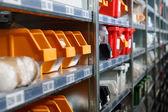 Storage bins and racks — Stock Photo