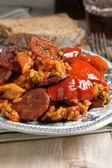 Chicken and Chorizo Paella — Stock Photo