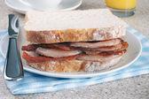 Bacon Sandwich — Stock Photo