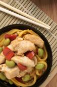 Teriyaki Chicken Noodles — Stock Photo