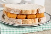 Fish Finger Sandwich — Stock Photo