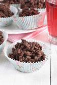 Chocolate rice cakes — Stock Photo