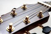 Classical acoustic guitar closeup — Stock Photo