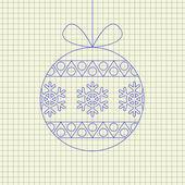 Vector christmas ball — Stock Vector