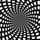 A black and white spiral optical illusion — Stock Vector