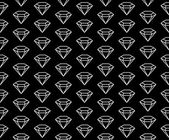 Diamonds pattern black and white — Stock Vector
