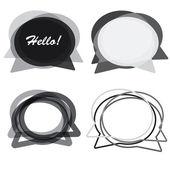 Speech bubbles vector. Modern design. Place for text. — Stock Vector