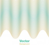 Abstract vibrating wave repeating 3D pattern. — Stock Vector