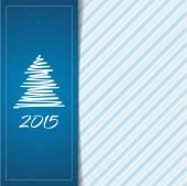 Christmas and New Year menu card — Stock Vector