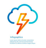 Lightning bolt weather icon — Stock Vector
