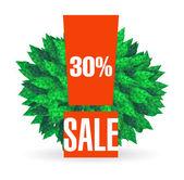 Sale typographic sticker — Stock Vector