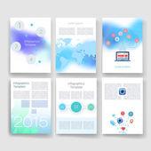 Flyer, Broschüre Design-Vorlagen eingestellt. Geometrische dreieckige Modern abstrakt. Mobile Technologien, Anwendungen und Infographik Konzept. — Stockvektor