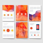 Vector brochure design templates collection. Applications and Infographic Concept. Flyer, Brochure Design Templates set. Modern flat design icons for mobile or smartphone. — Stock Vector