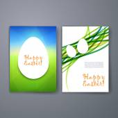 Templates. Set of Flyer, Brochure Design Templates. Easter invitation flyer. Happy Easter. — Stock Vector