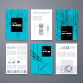 Design Template Set for Web, Mail, Brochures. Mobile, Technology, App ui and Infographic Concept. — Stock Vector