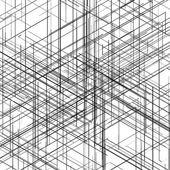 Abstrakt datorgenererade isometrisk 3d blueprint visualisering linjer bakgrund. vektor illustration för genombrott i teknik. — Stockvektor