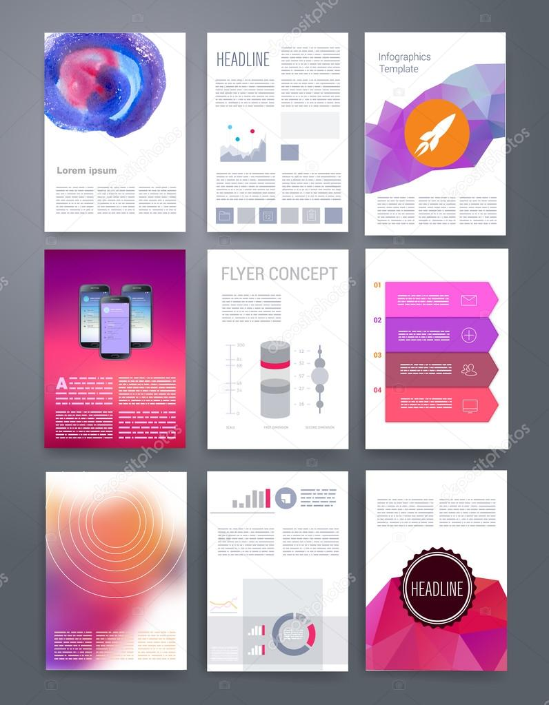 templates vector flyer brochure cover for print web marketing templates vector flyer brochure magazine cover template can use for print and marketing applications and infographic concept modern flat design icons