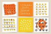 Vector set of grunge brush strokes. Vector brush strokes collection. — Stock Vector